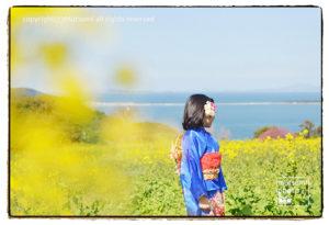 能古島(ひなまつりイベント)と菜の花