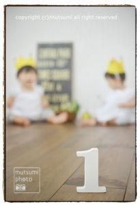 双子ちゃん☆1st birthday【アトリエ】
