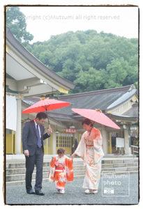 雨の日の七五三【出張撮影】