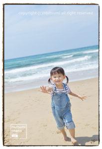 海辺での撮影【3歳女の子】
