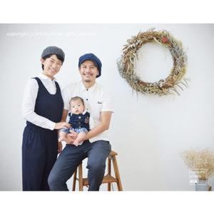 お宮参りファミリーフォト【in アトリエ】