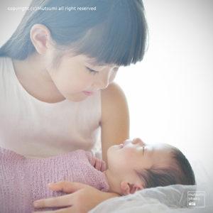 小さなお母さん【新生児フォト】