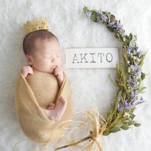 生後1ヶ月の新生児フォト
