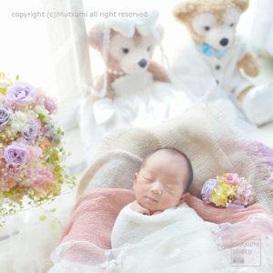 記念の品と一緒に【新生児フォト】